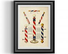 Barba Prints - Vintage Barber Poles Reproduction