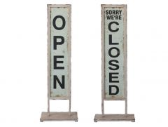 Open/Closed Sign on Foot