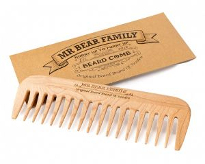 Mr Bear Family Wooden Comb