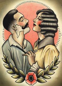 Barber Poster - Tattoo Pattern #1