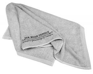 Mr Bear Family Barber Towel Grey