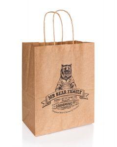 Mr Bear Family Paper Bag, large