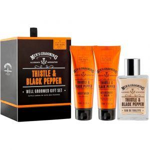The Scottish Fine Soaps Thistle & Black Pepper Well Groomed Gift Set